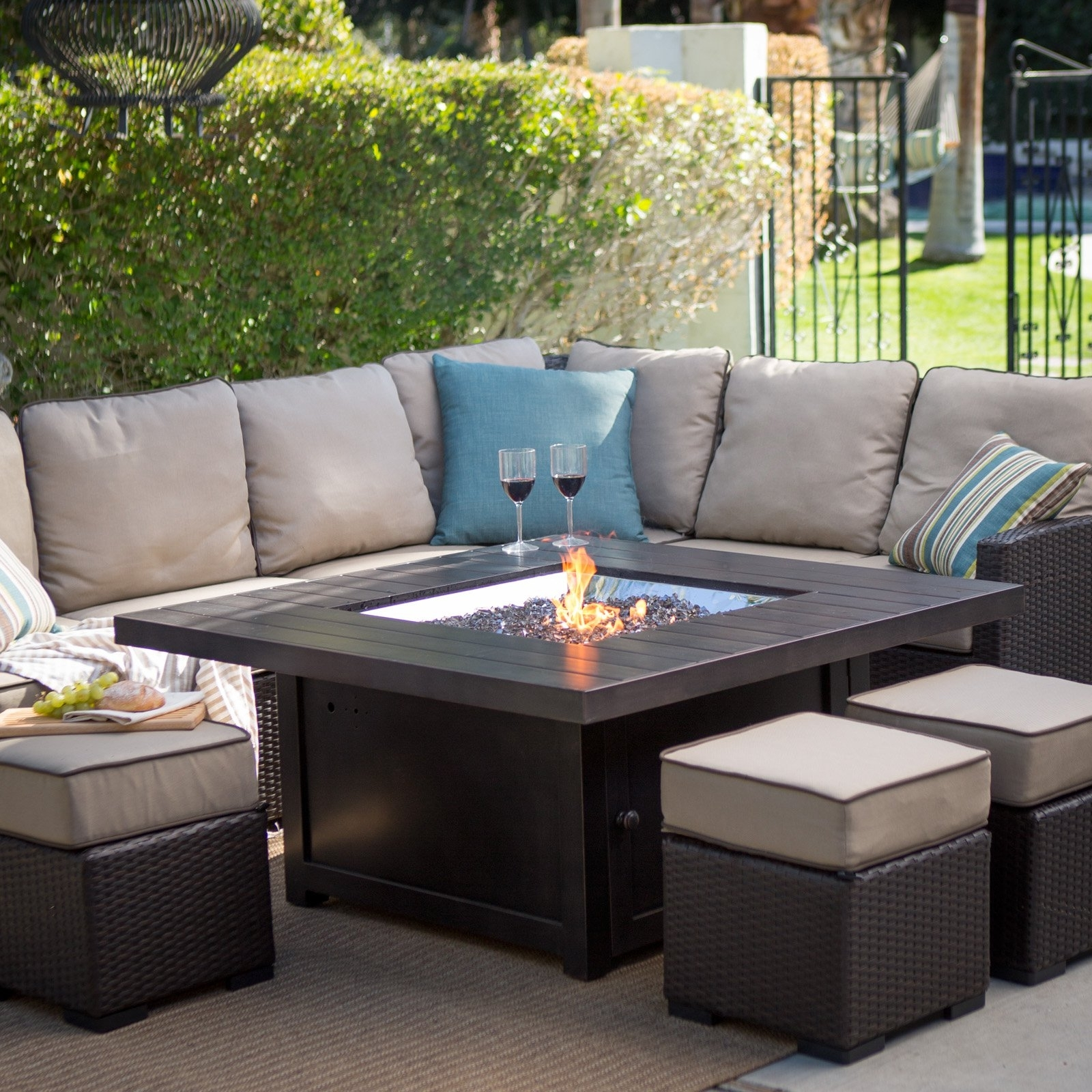 Furniture: High Quality Patio Furniture Columbus Ohio And Fire Pit Intended For Recent Patio Conversation Sets With Gas Fire Pit (View 6 of 20)