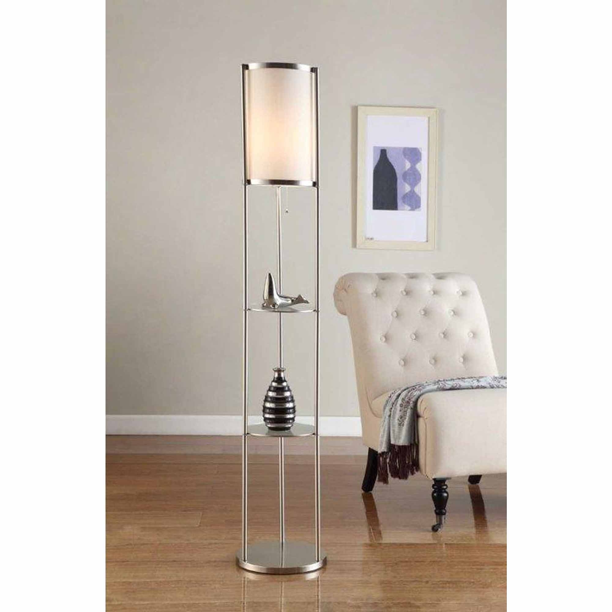 Furniture : Light Mainstays Floor Lamp Silver Walmart With Standing With Most Recent Walmart Living Room Table Lamps (View 7 of 20)
