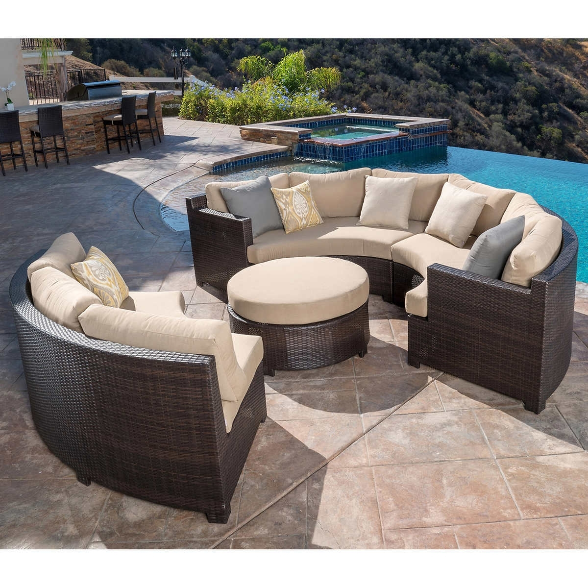 Furniture: Patio Astounding Costco Outdoor Costco Patio Furniture With Widely Used Costco Patio Conversation Sets (View 7 of 20)