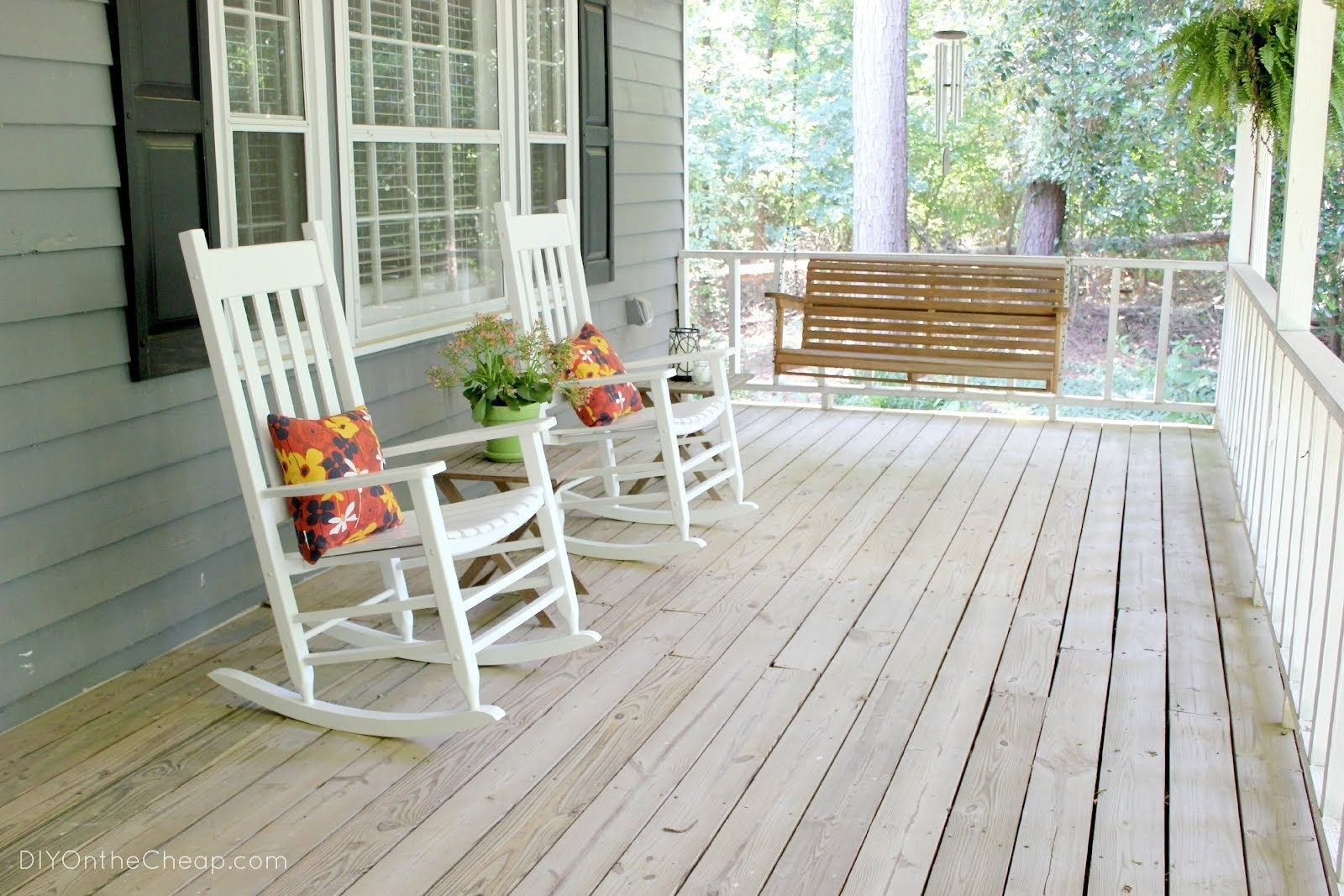 Furniture : Southern Style Rocking Chairs Wicker And Wood Rocking Within Well Known Rocking Chairs For Front Porch (View 9 of 20)