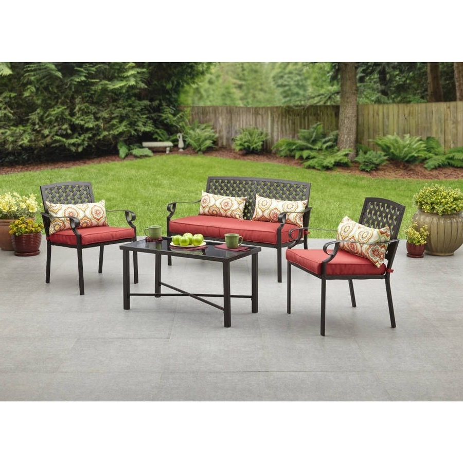 Garden 8Pc Metal Conversation Pillows Set Outdoor Patio Table Chairs In Widely Used Ebay Patio Conversation Sets (View 9 of 20)