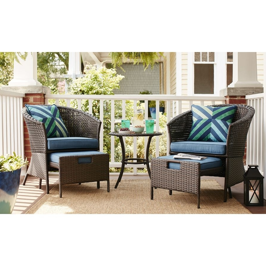 Garden Treasures Patio Conversation Sets With Regard To Newest Shop Garden Treasures Sandyfield 5 Piece Steel Patio Conversation (Gallery 9 of 20)