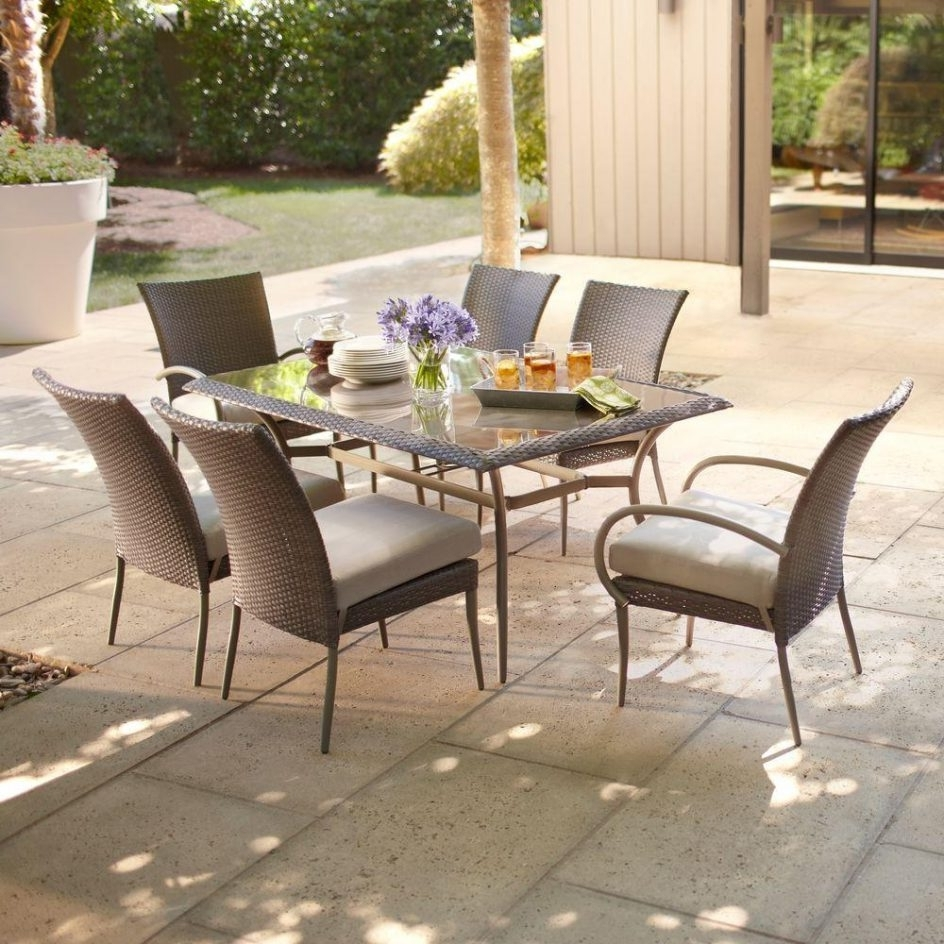Graceful Outdoor Furniture Set 5 Atlantis 4 Piece Wicker Patio Pertaining To 2019 Hampton Bay Patio Conversation Sets (Gallery 10 of 20)