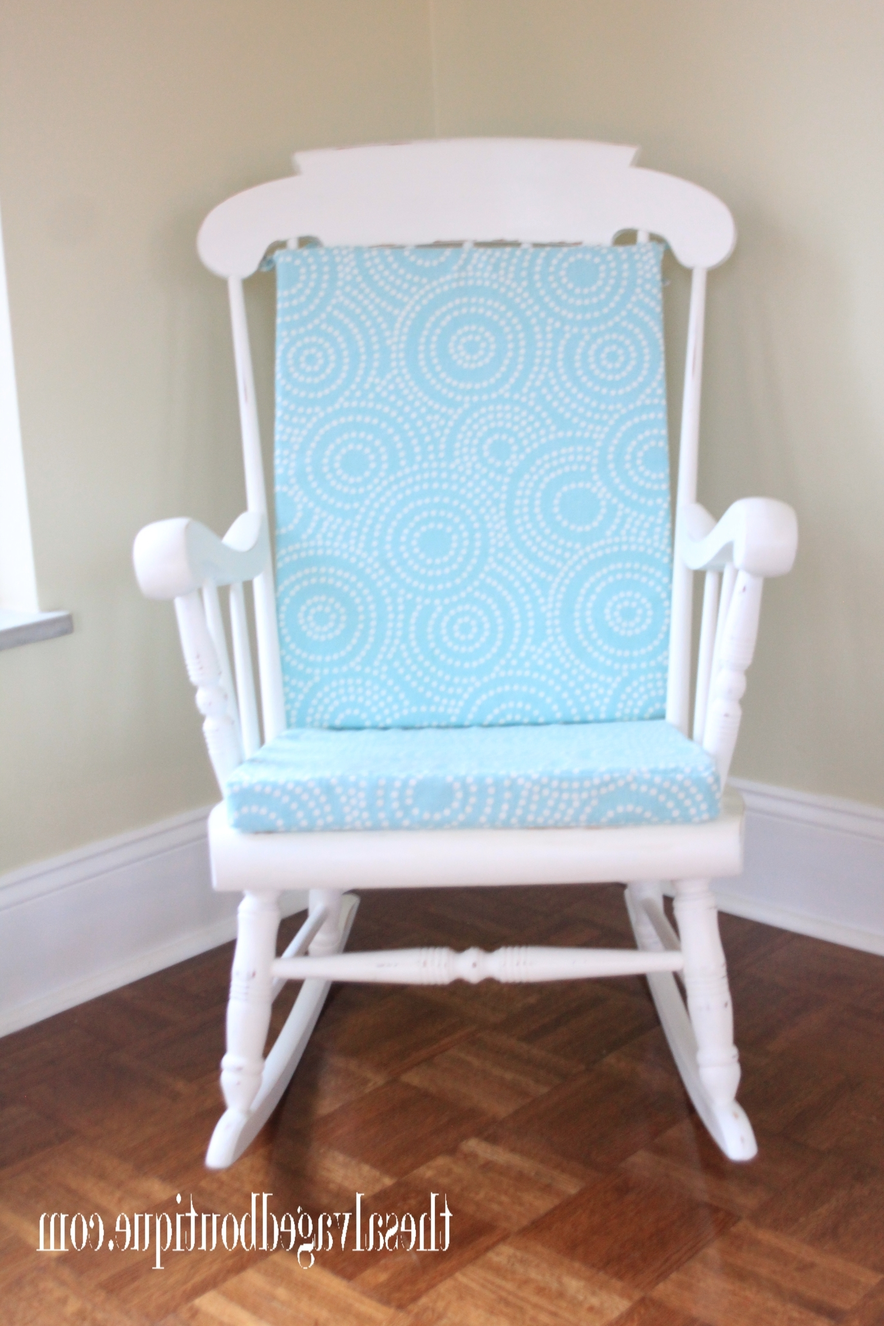 Grandpa's Rocking Chair Brightened Up For New Baby Nursery. – The For Most Recent Upcycled Rocking Chairs (Gallery 19 of 20)