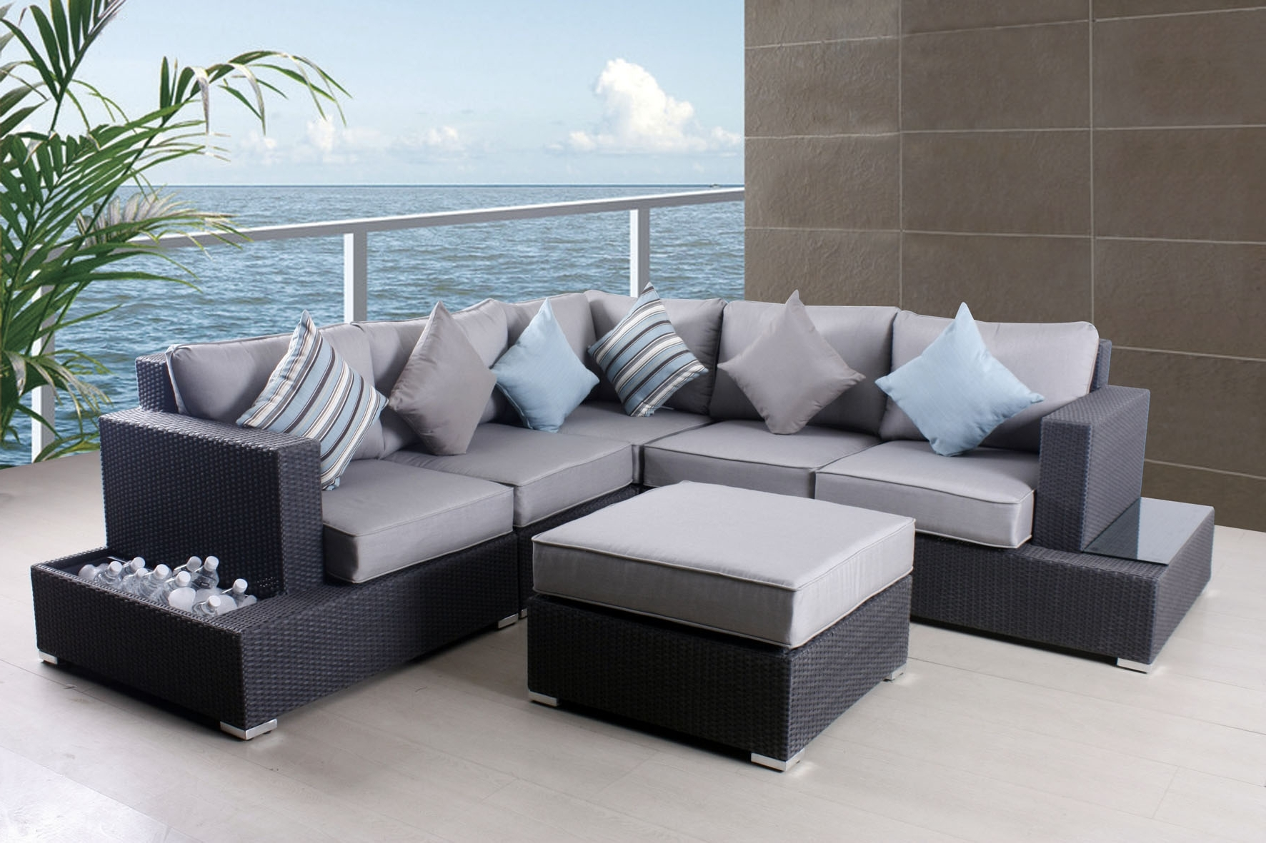 Grey Patio Conversation Sets Inside Widely Used Stylish Grey Patio Furniture Patio Grey Patio Furniture Sofa Set (View 8 of 20)