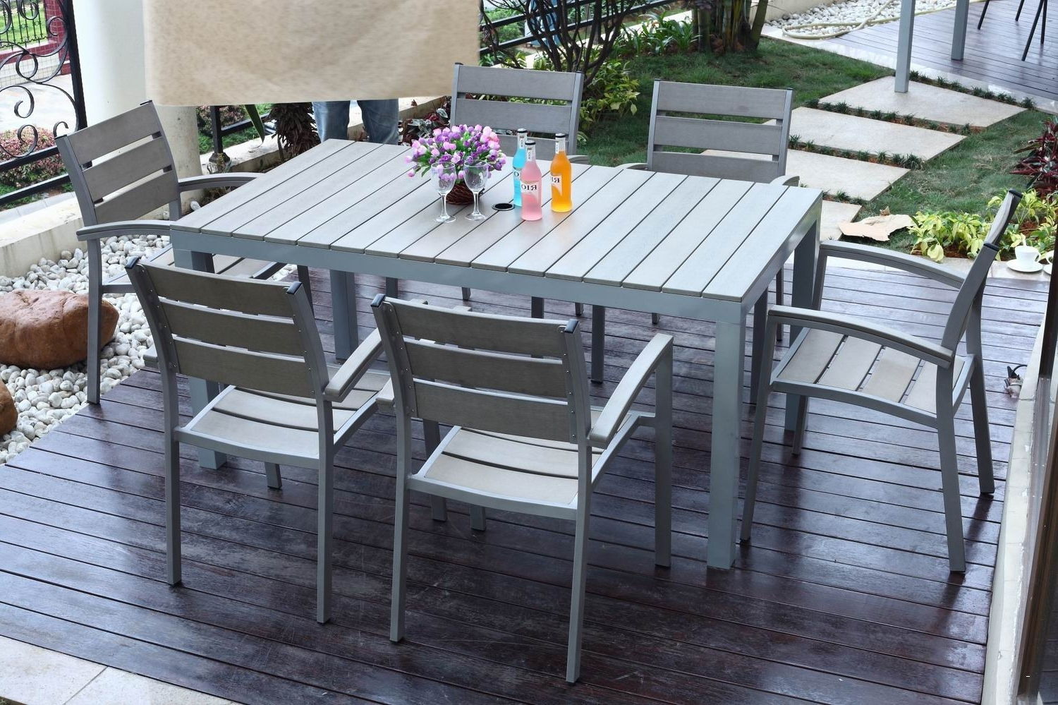 Grey Patio Furniture Sets Elegant Outdoor Poly Wood Furniture Amish Throughout Best And Newest Gray Patio Conversation Sets (View 11 of 20)