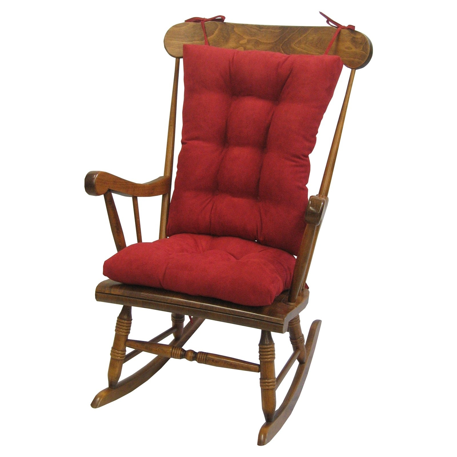 Gripper Jumbo Rocking Chair Cushions, Nouveau – Walmart In Recent Rocking Chairs With Cushions (View 6 of 20)