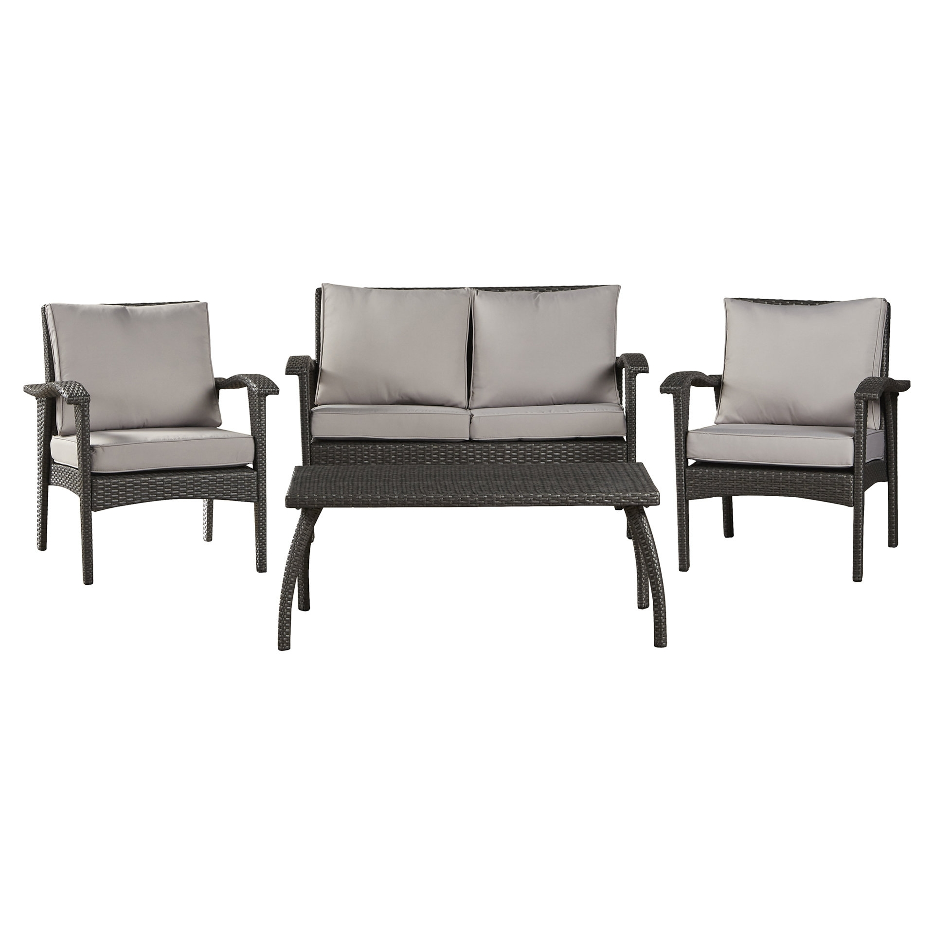 Guilford 4 Piece Rattan Sofa Set With Cushions & Reviews (Gallery 19 of 20)