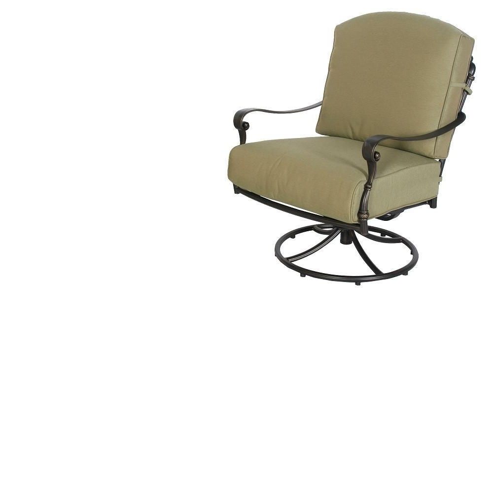 Hampton Bay Rocking Patio Chairs Regarding Latest Hampton Bay 141 034 Srl1 Edington Swivel Rocker Patio Chair With (View 7 of 20)