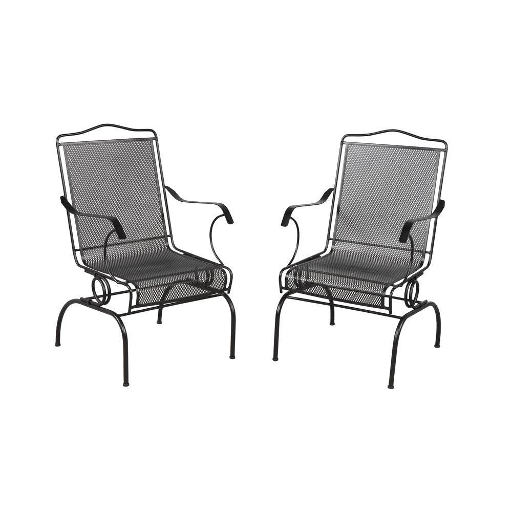 Hampton Bay Rocking Patio Chairs Throughout Favorite Hampton Bay Jackson Action Patio Chairs (2 Pack) 7891700 (View 17 of 20)