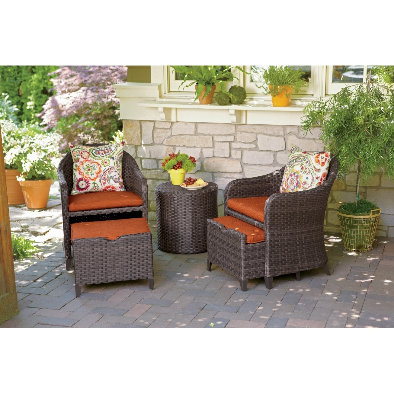 Hanover Patio Conversation Sets Strathallure2pc 64 1000 Random 2 With Well Known Patio Conversation Sets With Ottoman (View 12 of 20)