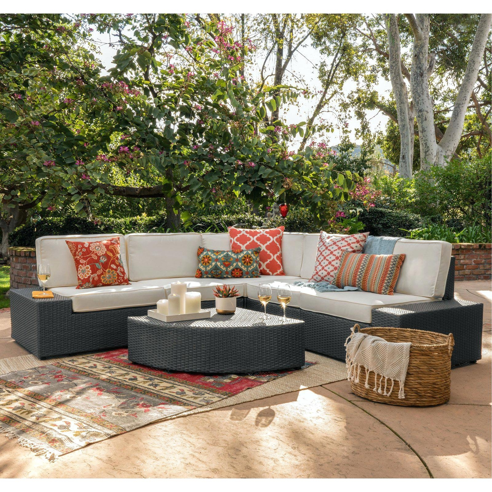 Hayneedle Patio Conversation Sets Inside Favorite Hayneedle Patio Furniture Coral Coast Furniture Wicker 6 Piece Patio (View 3 of 20)