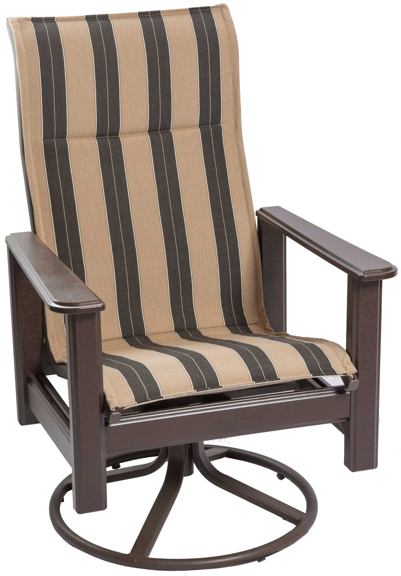 High Back Outdoor Swivel Rocker (View 7 of 20)