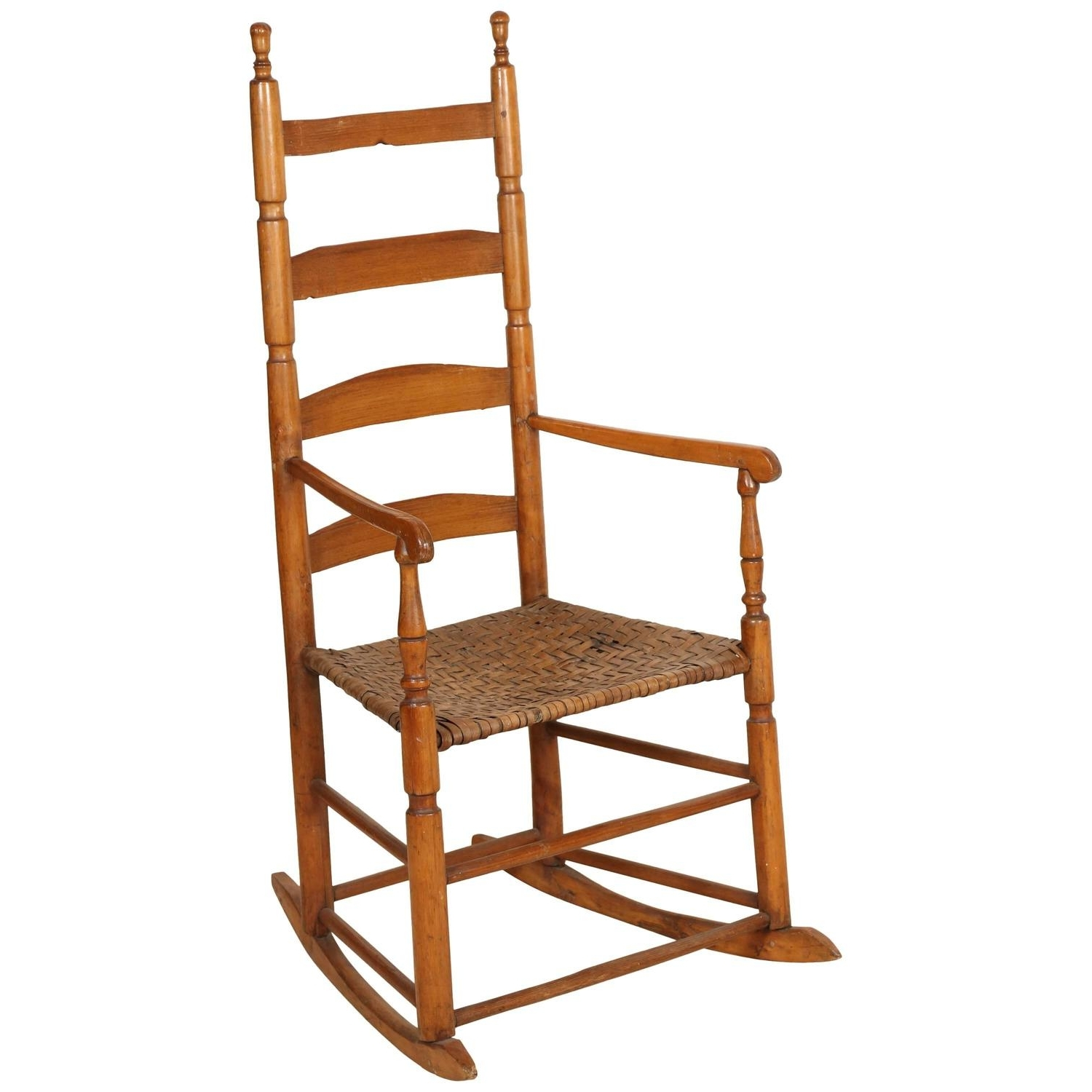 High Back Rocking Chairs Pertaining To Current Ladder High Back Rocking Chair For Sale At 1Stdibs (View 10 of 20)