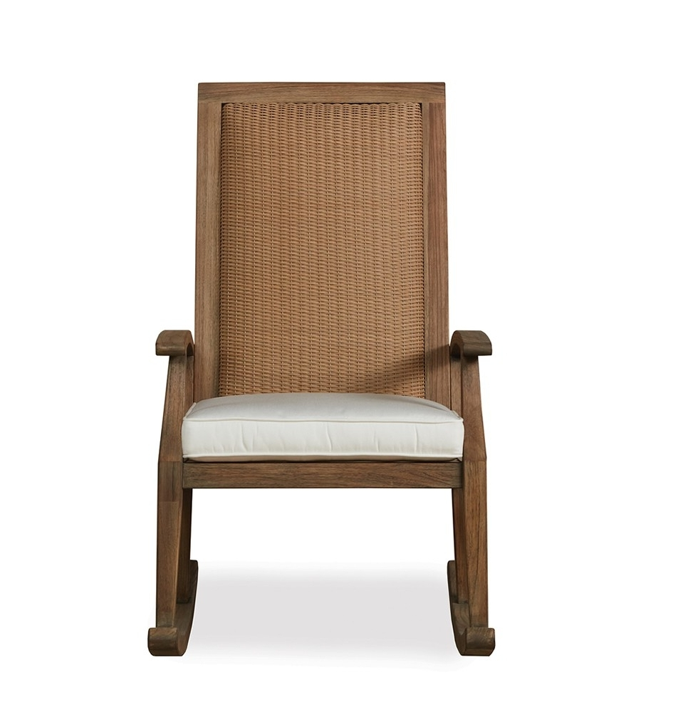 High Back Rocking Chairs Throughout Favorite Lloyd Flanders Wildwood Highback Wicker Rocking Chair – Wicker (Gallery 4 of 20)
