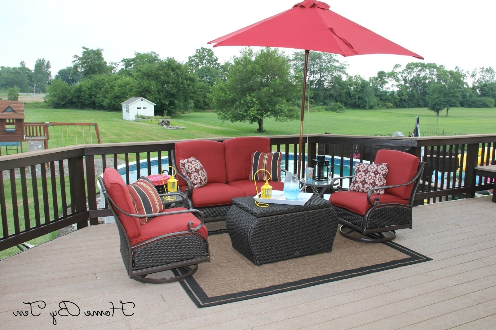 Hometen: Patio Conversation Set And Outdoor Rug  Home Depot/lowes Pertaining To Newest Patio Conversation Sets At Home Depot (View 7 of 20)