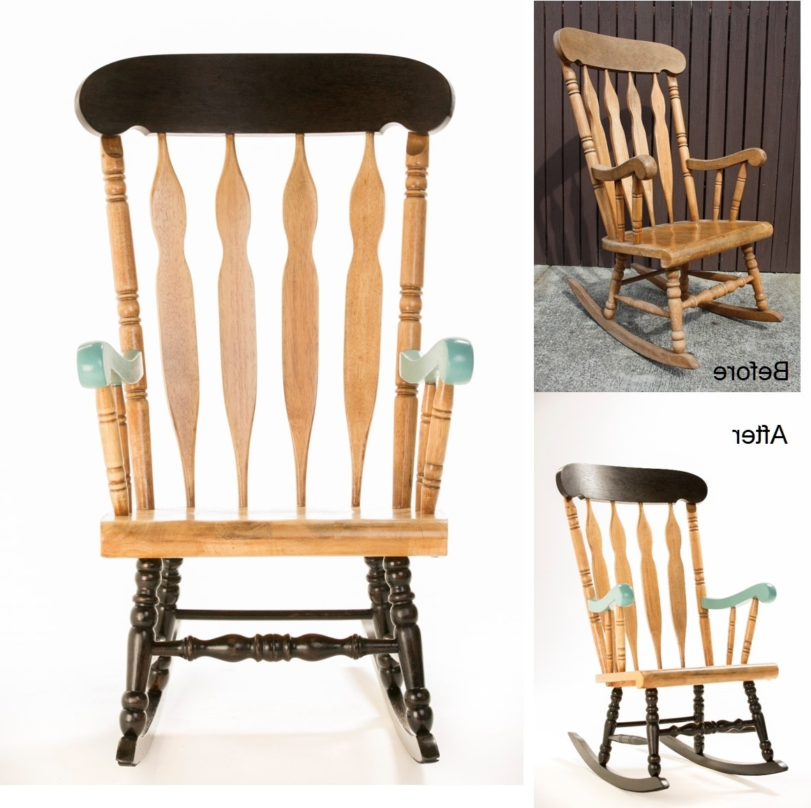 How To: Upcycle A Timber Rocking Chair – The Interiors Addict Inside Newest Upcycled Rocking Chairs (View 9 of 20)