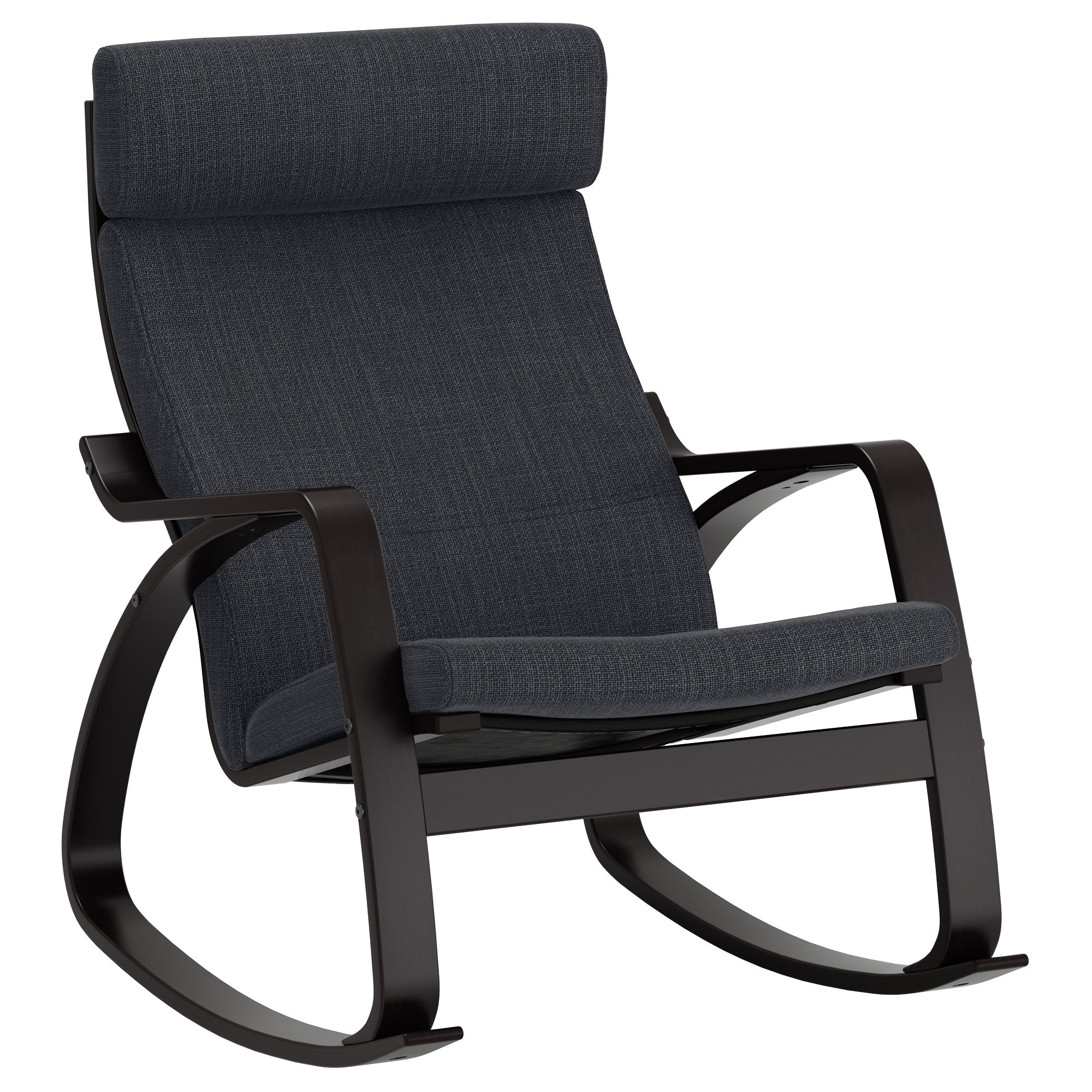 Ikea Rocking Chairs Inside 2019 Poäng Rocking Chair Black Brown/hillared Anthracite – Ikea (View 8 of 20)