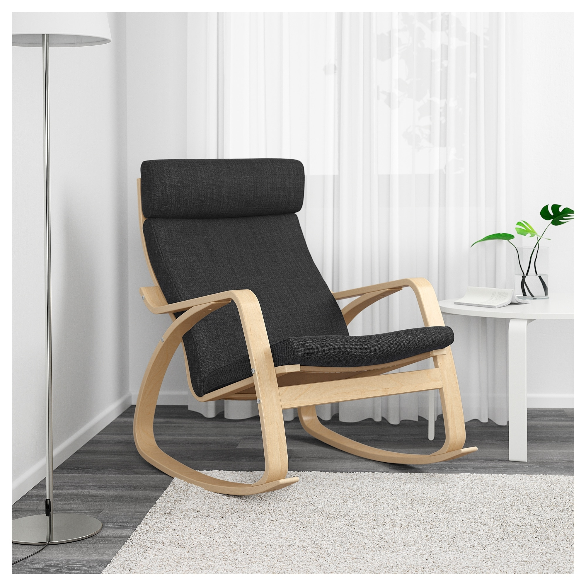 Ikea Rocking Chairs Throughout Most Recent Poäng Rocking Chair Birch Veneer/hillared Anthracite – Ikea (Gallery 5 of 20)