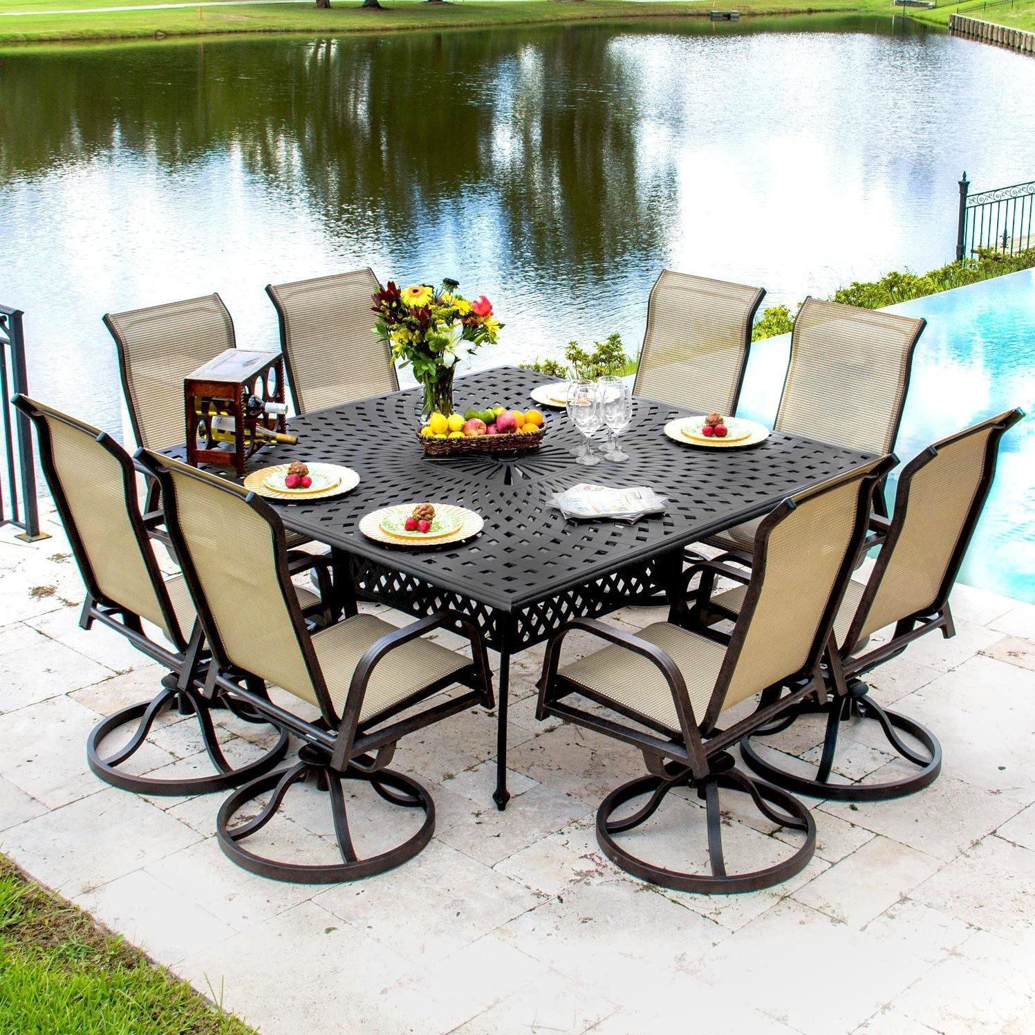 Incredible Sling Patio Furniture Sets Atio Dining Table Set Unique In Best And Newest Patio Conversation Sets With Rockers (View 7 of 20)