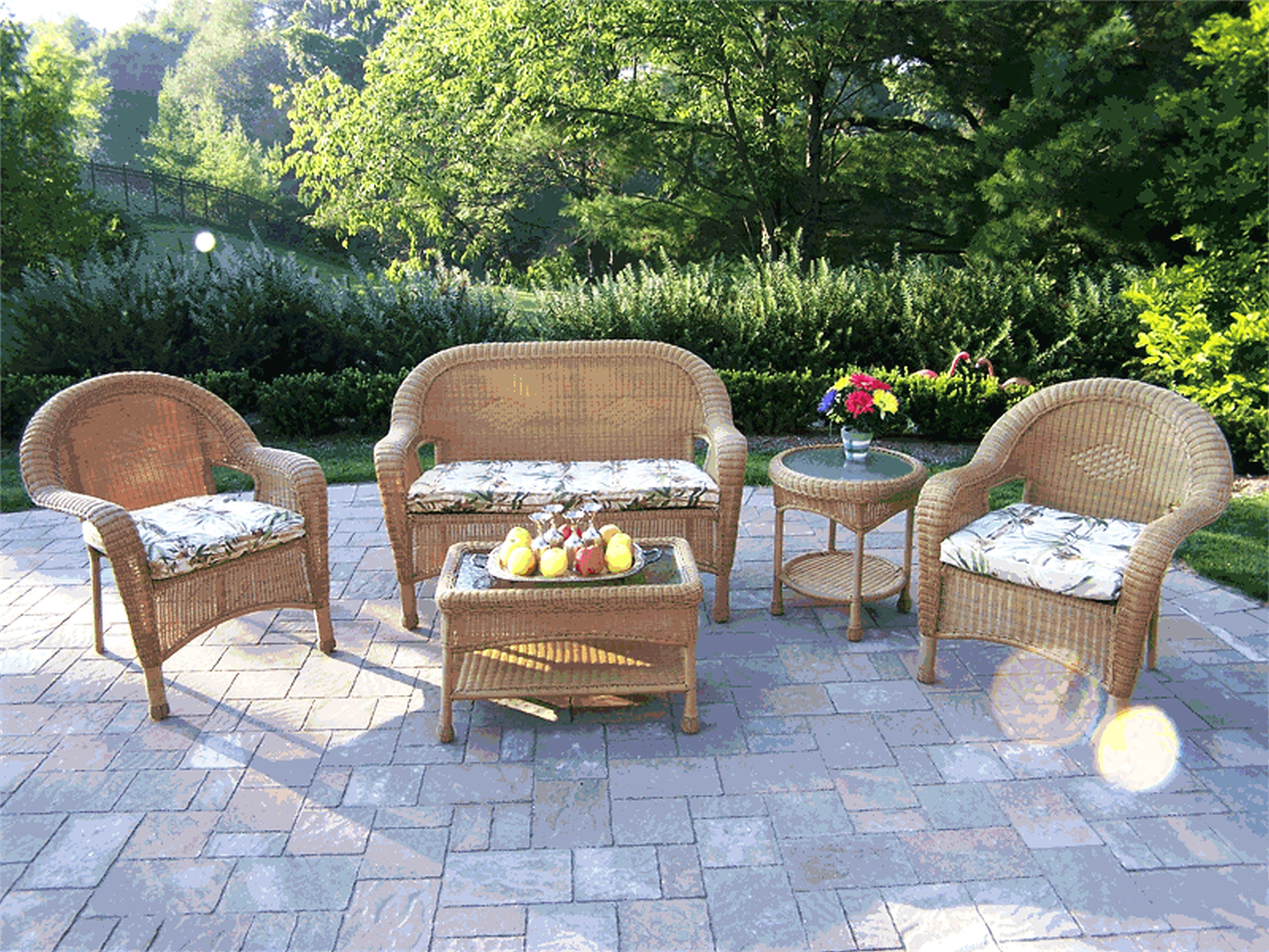 Inexpensive Patio Conversation Sets With Famous Patio : Small Outdoor Patio Bench Awesome Beautiful Concrete Patio (Gallery 11 of 20)
