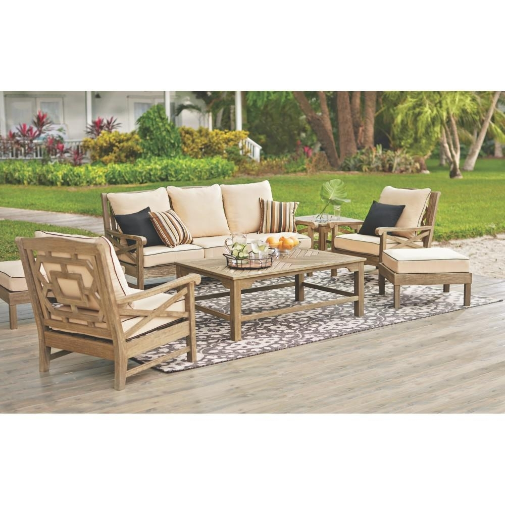 Inspiring Martha Stewart Living Blue Hill Wood Outdoor Deep Seating Inside Well Liked Martha Stewart Conversation Patio Sets (View 5 of 20)