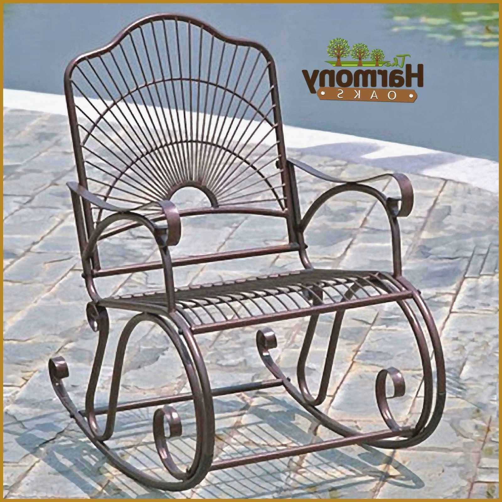 Iron Rocking Patio Chairs Within Most Recent Iron Rocking Patio Chairs Elegant Unique Wrought Iron Rocking Chair (View 9 of 20)