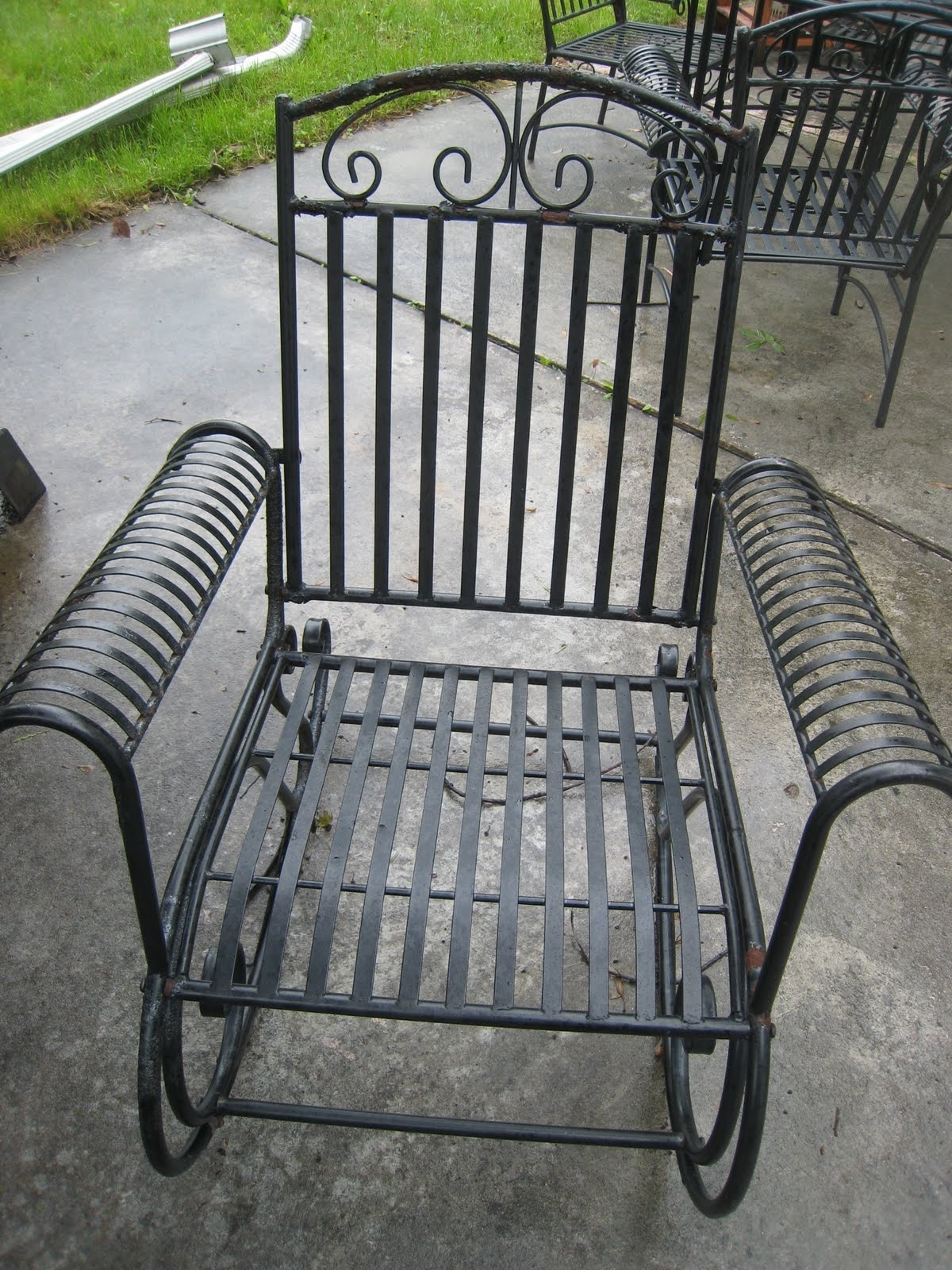 Irresistible Textured Black Outdoor Chairs At Hayneedle Belham Within Well Liked Wrought Iron Patio Rocking Chairs (View 8 of 20)