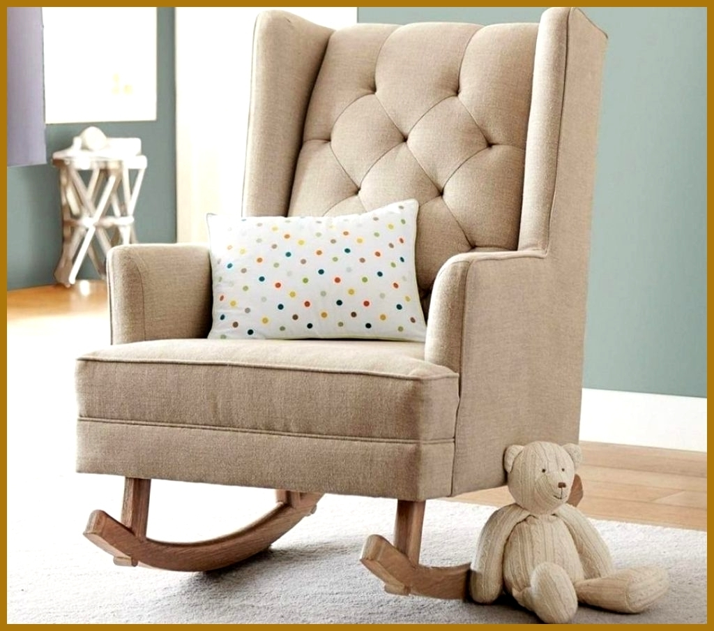 Kids Upholstered Rocking Chair Awesome Kids Upholstered Rocking In Trendy Upholstered  Rocking Chairs (View 5