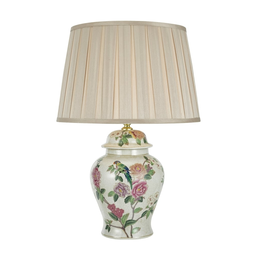 Lamp: Dar Lighting Peony Single Light Ceramic Table Lamp Base Only For Most Recently Released Pink Table Lamps For Living Room (View 18 of 20)
