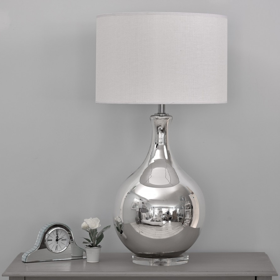 Lamp : Silver Table Lamps For Bedroom At Home With Way Bulb Living For Best And Newest Silver Table Lamps For Living Room (View 6 of 20)