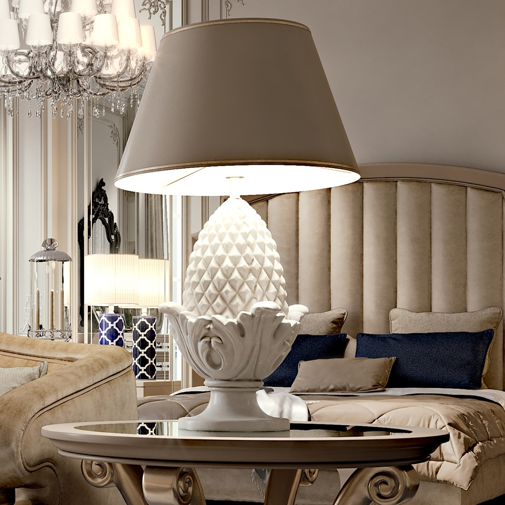 Large Pine Cone Ceramic Luxury Table Lamp (Gallery 8 of 20)