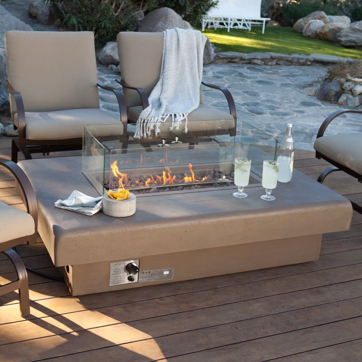 Latest Edmonton Patio Conversation Sets In Fire Pit Table For Outdoor Area — The New Way Home Decor (View 7 of 20)
