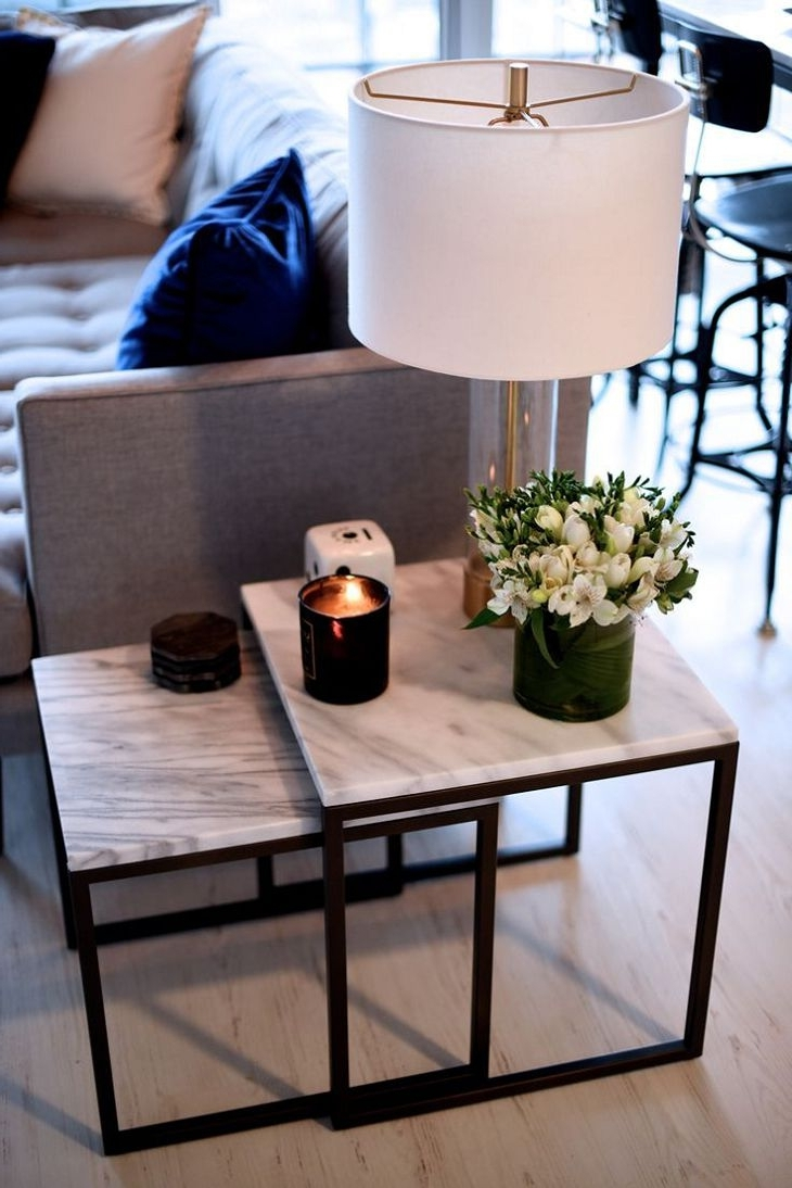 Latest Outstanding Coffee Table Ideas For Living Room White Tube Shade In Living Room Coffee Table Lamps (View 11 of 20)