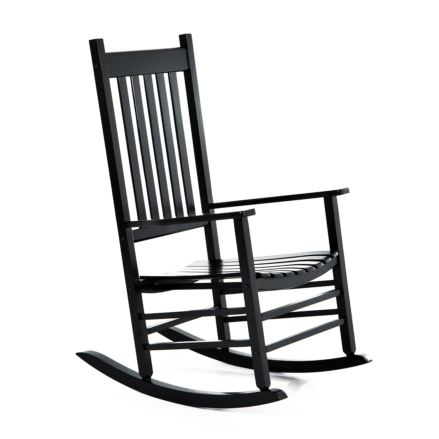 Latest Patio Wooden Rocking Chairs Throughout Aosom: Outsunny Porch Rocking Chair – Outdoor Patio Wooden Rocking (View 11 of 20)