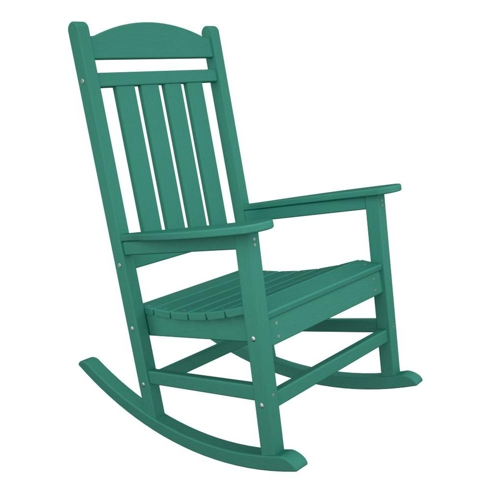 Latest Polywood Presidential Aruba Plastic Patio Rocker R100Ar – The Home Depot Pertaining To Patio Rocking Chairs With Covers (View 2 of 20)