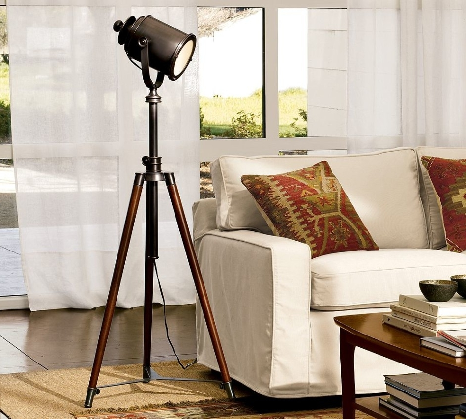 Latest Pottery Barn Table Lamps For Living Room For Accessories: Fetching Living Room Decoration Using Decorative Tripod (View 7 of 20)