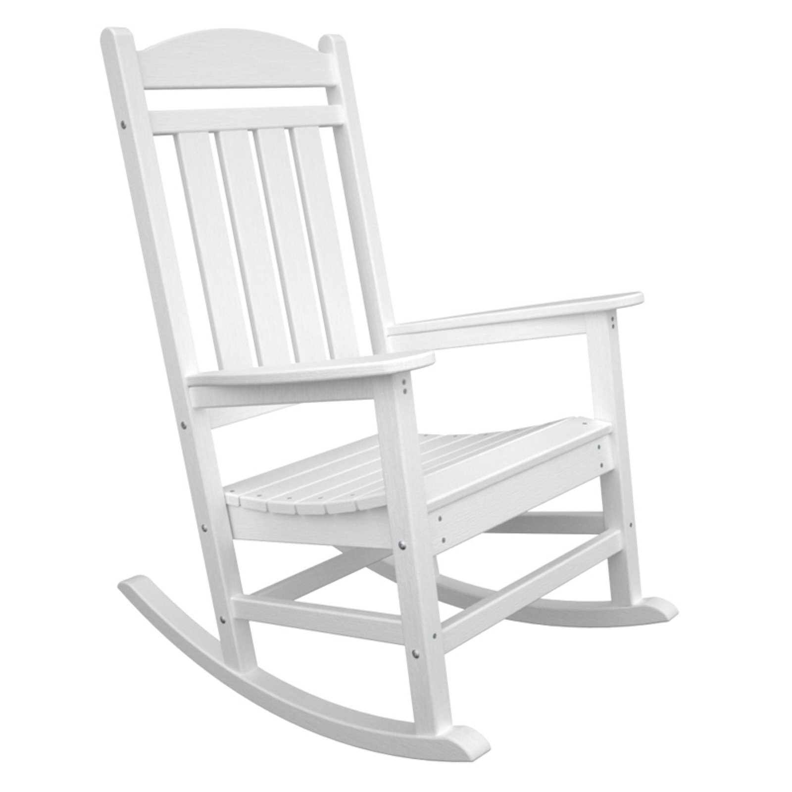 Latest White Patio Rocking Chairs Intended For Polywood® Presidential Recycled Plastic Rocking Chair – Walmart (View 8 of 20)