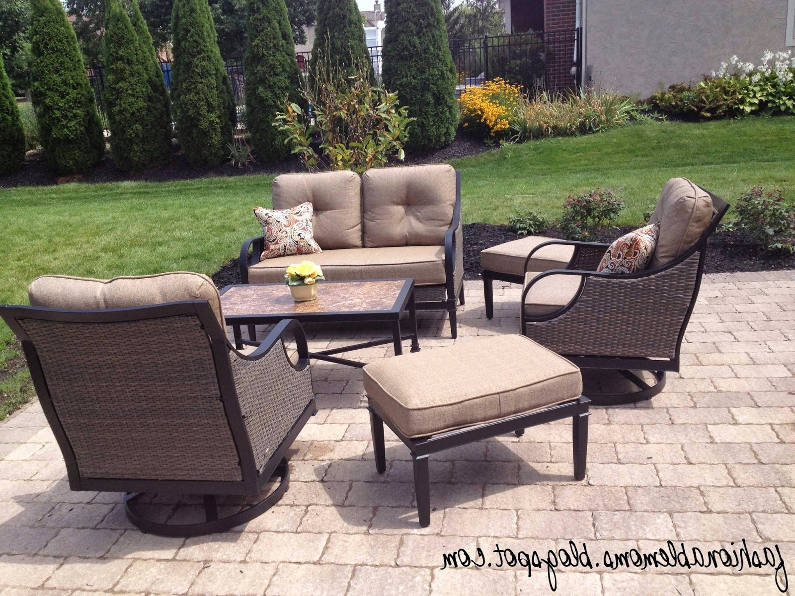 Lazy Boy Patio Conversation Sets Inside Fashionable Sears Outdoor Furniture Cushions – Outdoor Designs (View 7 of 20)