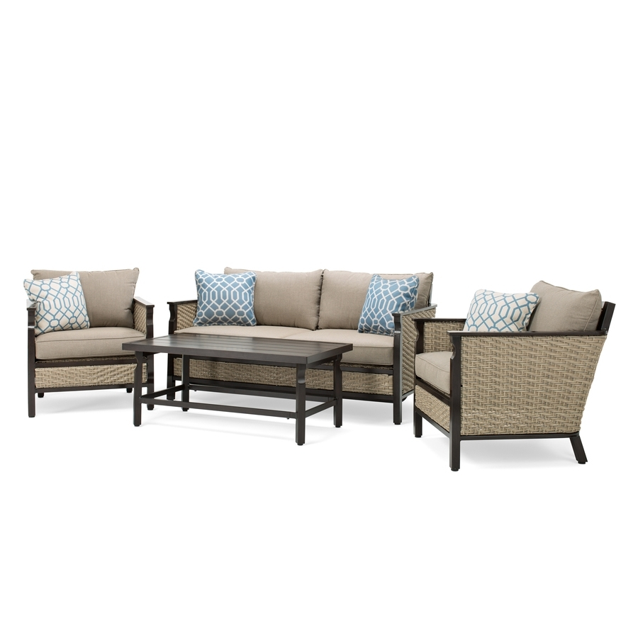 Lazy Boy Patio Conversation Sets With Regard To Fashionable Shop La Z Boy Outdoor Colton 4 Piece Wicker Frame Patio Conversation (View 14 of 20)