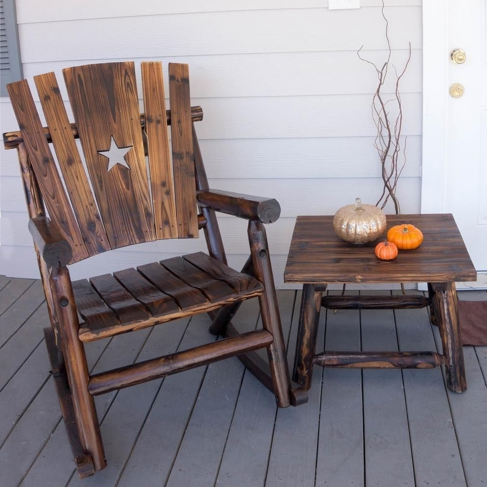 Leigh Country Char Log Single Rocker With Star (View 10 of 20)