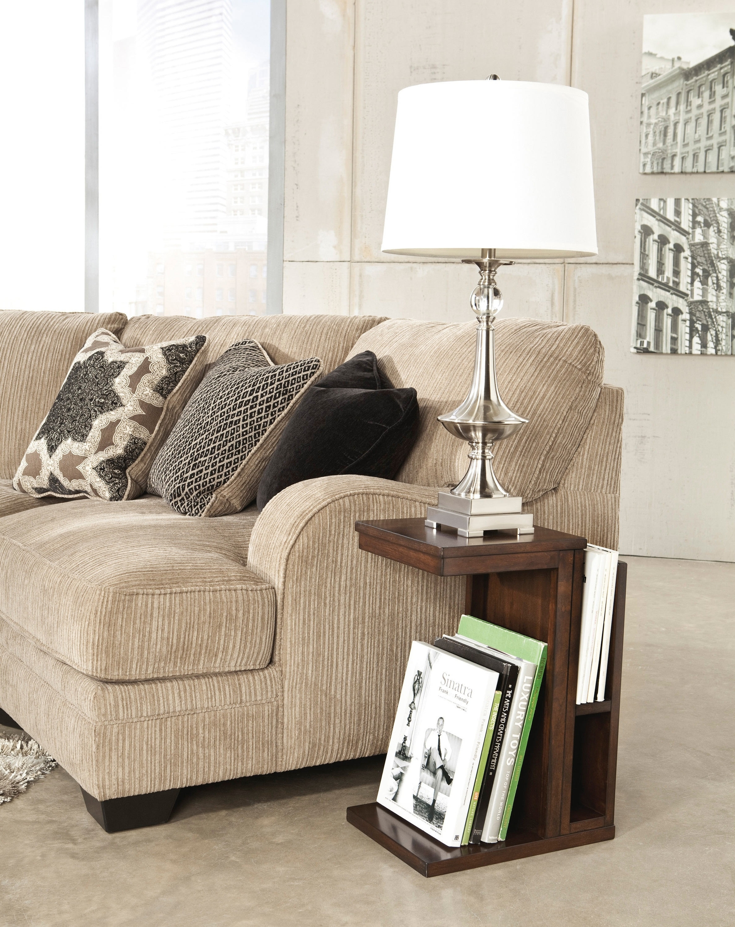 Living Room End Table Lamps Regarding 2019 End Tables : Living Room Modern End Table Lamp Design With White (View 6 of 20)