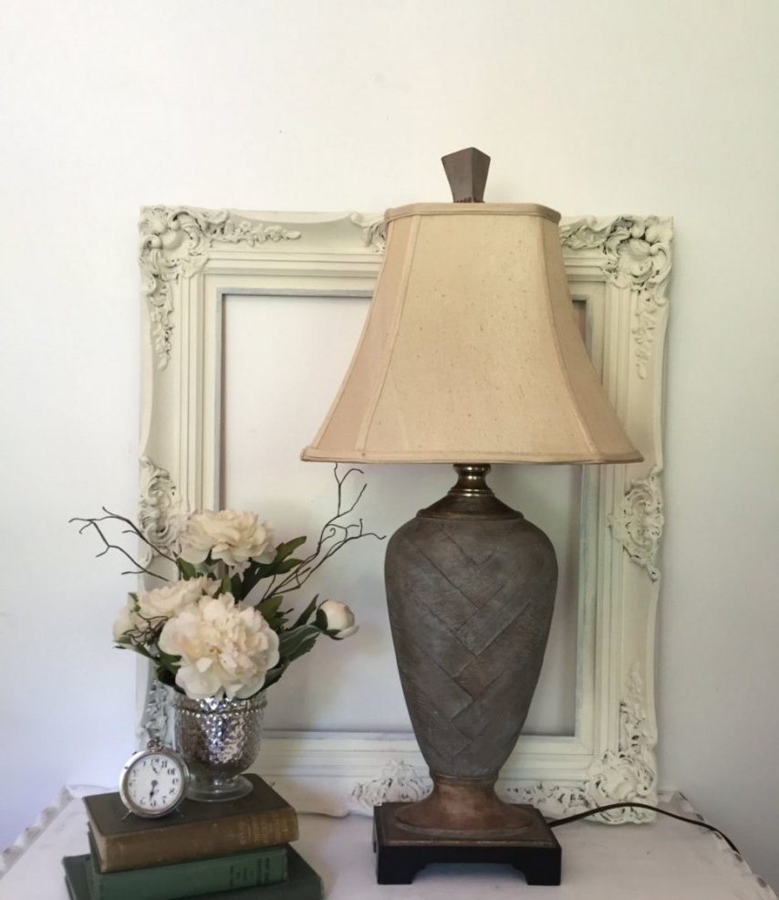 Living Room End Table Lamps Vintage Decoration And Furniture Brown With Regard To Well Known Living Room End Table Lamps (View 16 of 20)