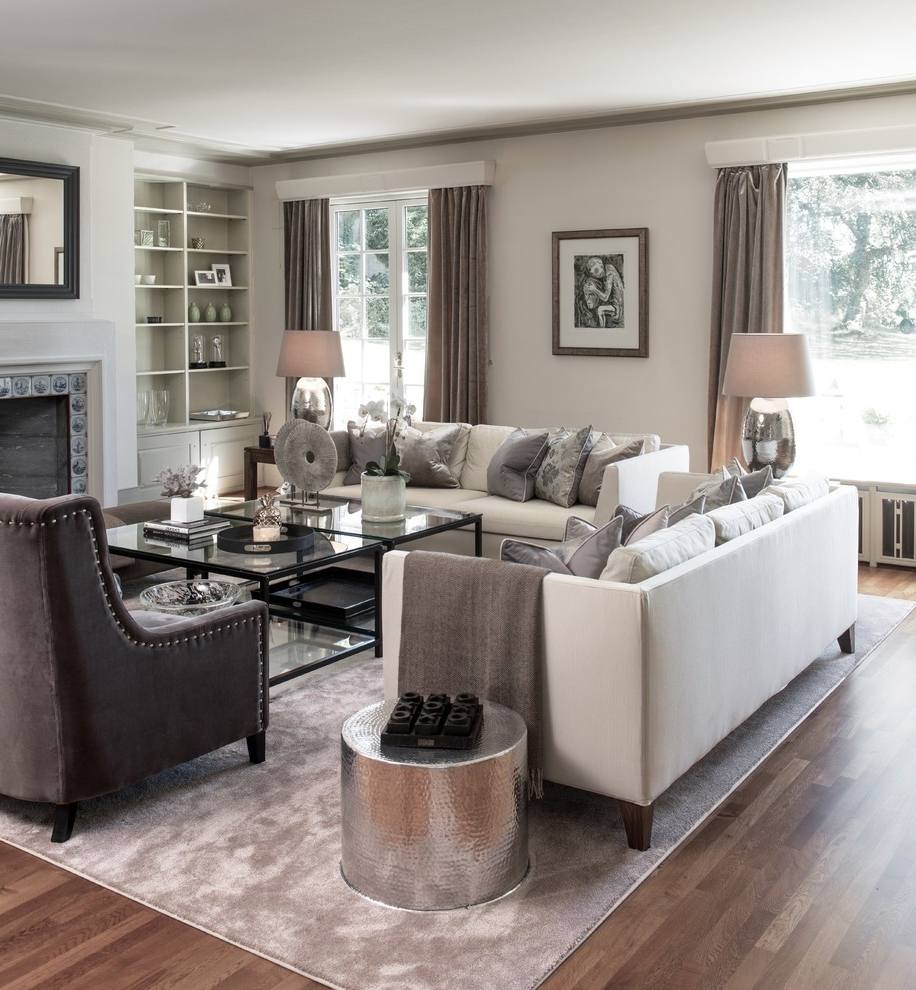 Living Room Furniture Living Room Transitional With Gray Rug Silver Inside Trendy Transitional Living Room Table Lamps (View 6 of 20)
