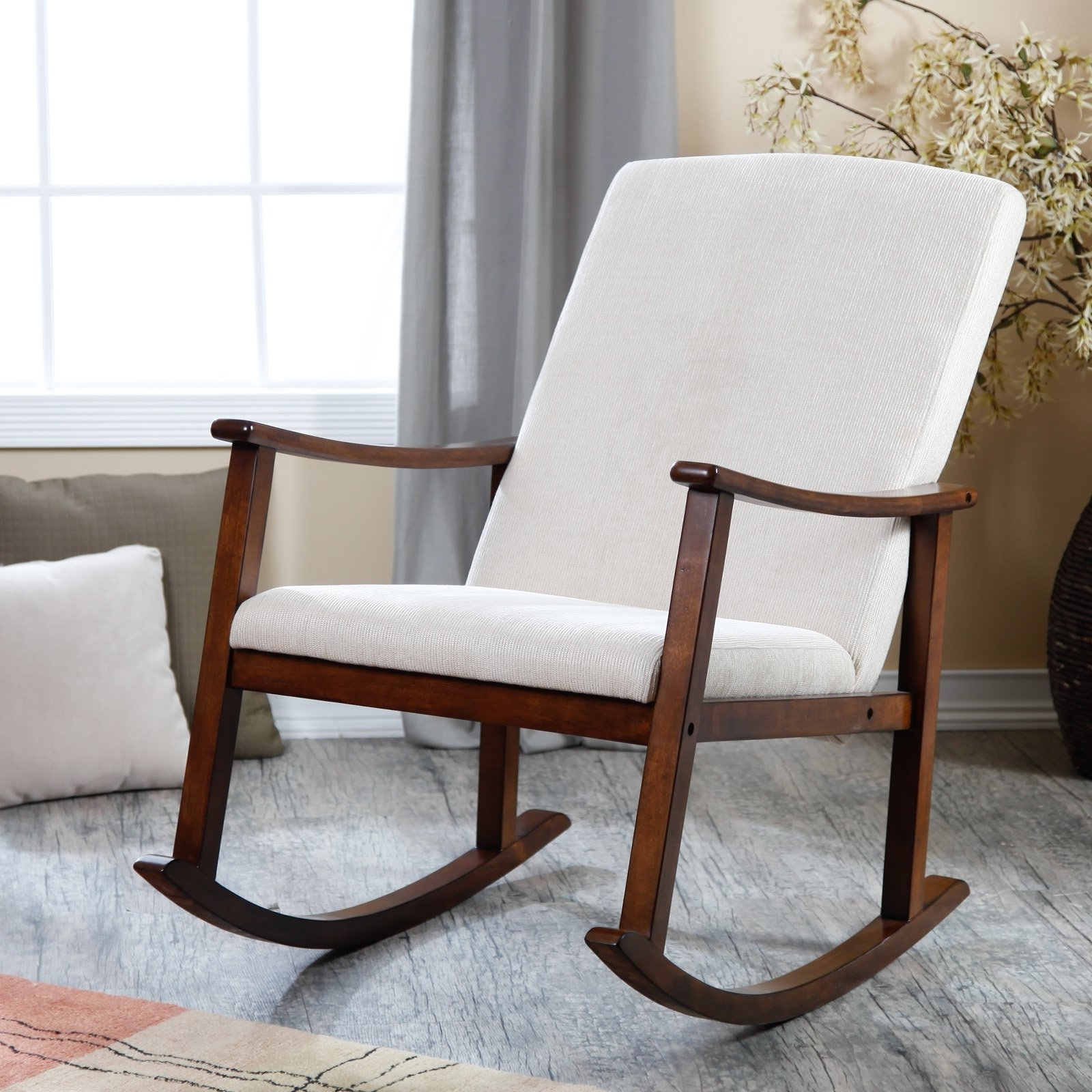 Living Room Furniture : Rocking Chairs For Baby Nursery Wooden Inside Trendy Rocking Chairs For Nursing (View 8 of 20)