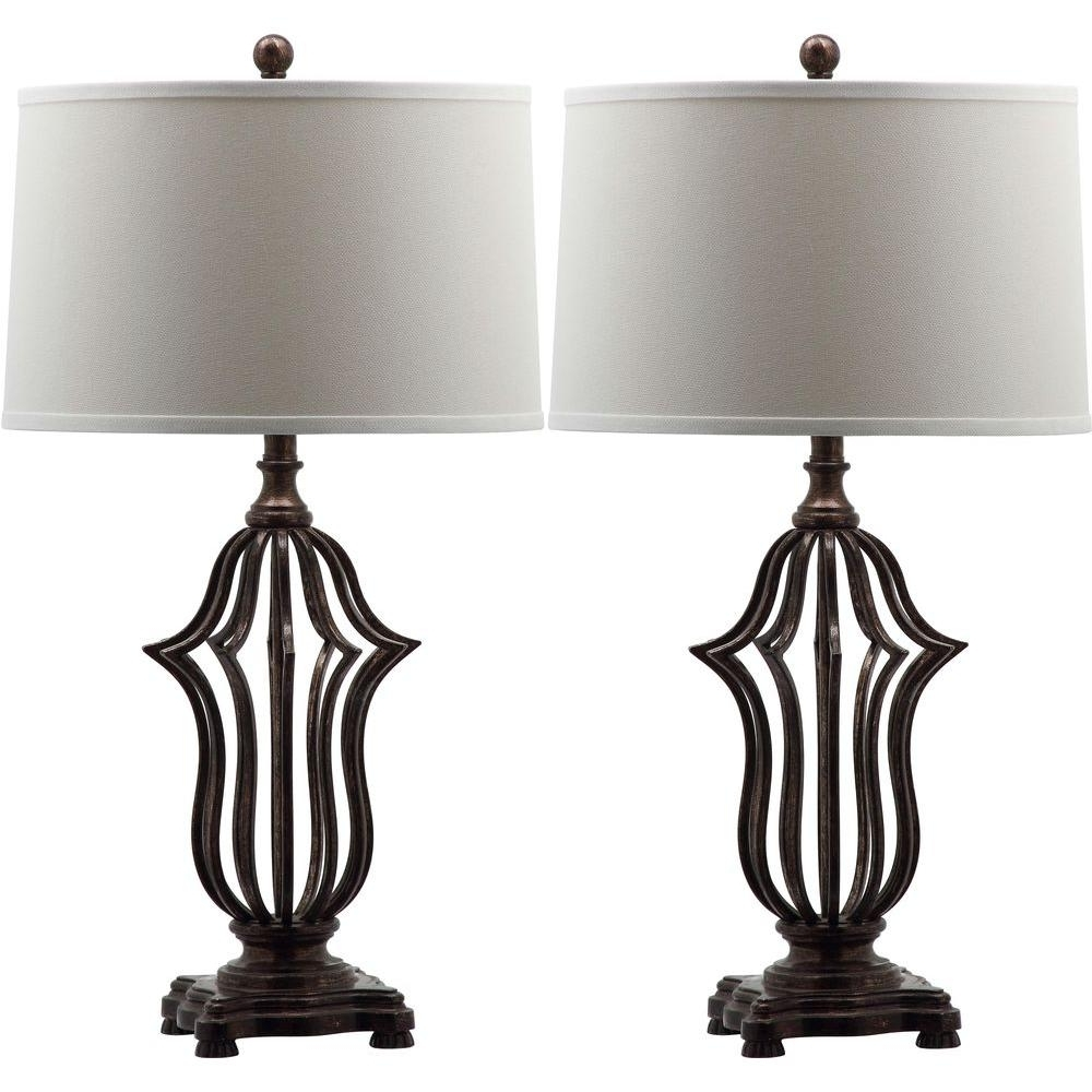 Living Room Table Lamps At Home Depot For Newest Safavieh Chloe Sculpture 30.5 In (View 9 of 20)