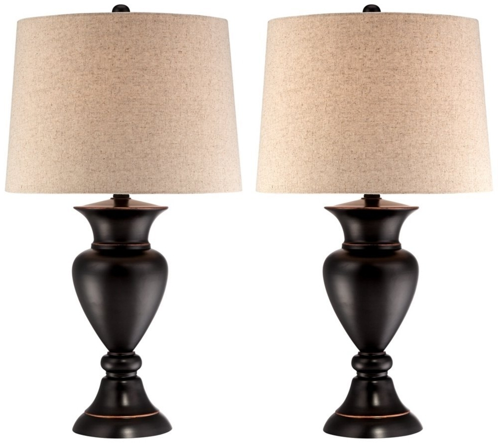 Living Room Table Lamps Sets With Regard To Current Reduced Bedroom Lamps Set Of 2 Side Table Light Wood Finish (View 2 of 20)