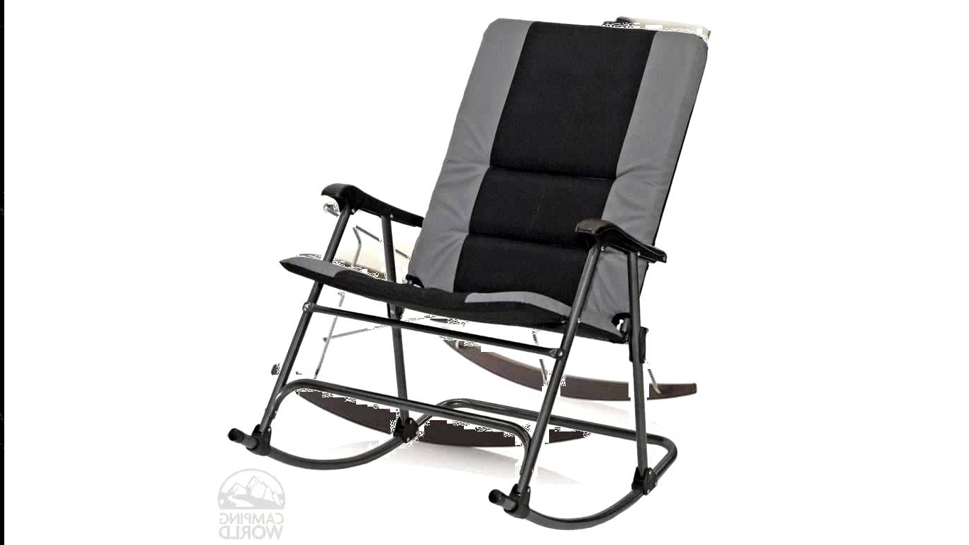 Lovable Pleasant Tall Patio Chairs Folding Rocking Chair Foldable Pertaining To Trendy Padded Patio Rocking Chairs (View 4 of 20)