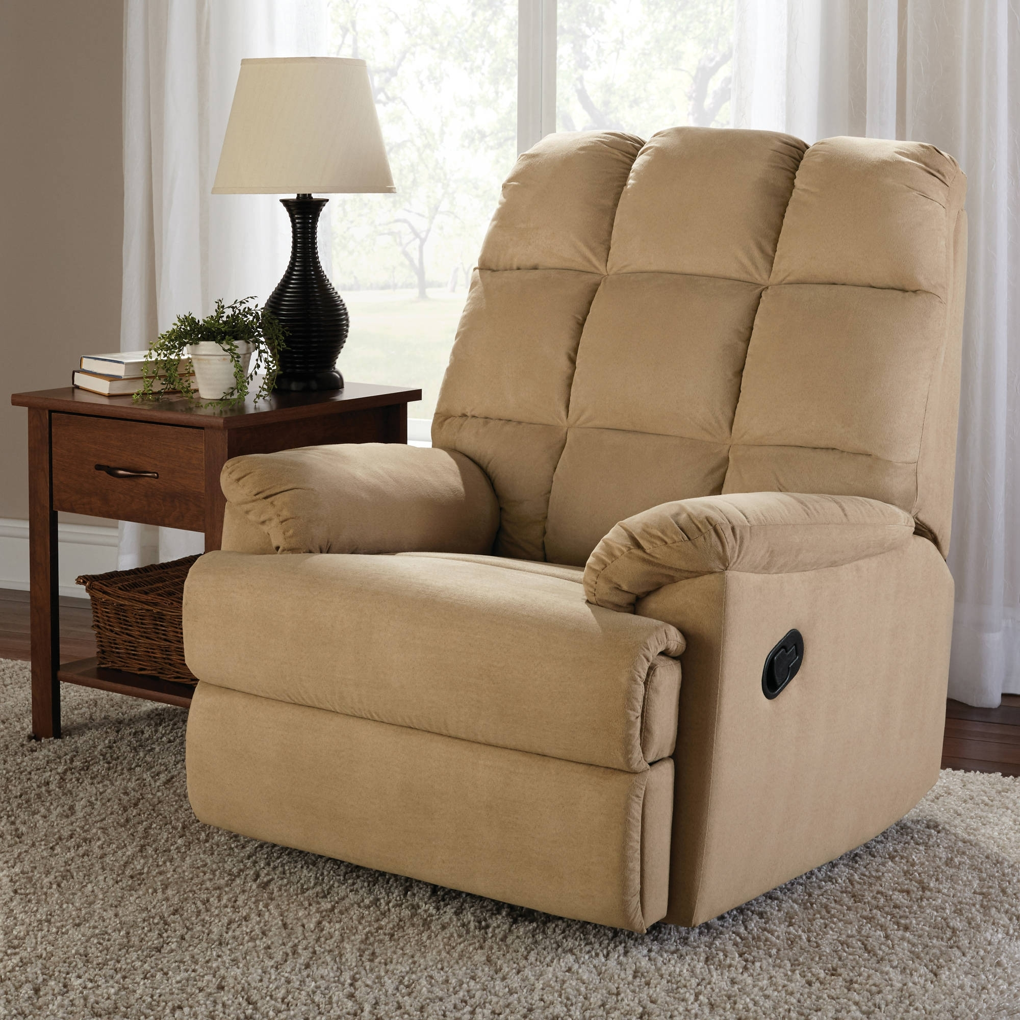 Mainstays Microsuede Rocker Recliner – Walmart Pertaining To Most Current Walmart Rocking Chairs (View 8 of 20)