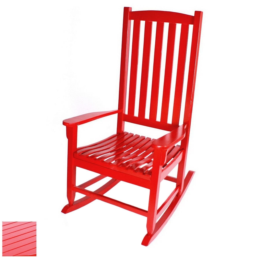 Manufacturing Red Outdoor Rocking Chair Lazy Boy Recliner Covers With Fashionable Red Patio Rocking Chairs (View 8 of 20)
